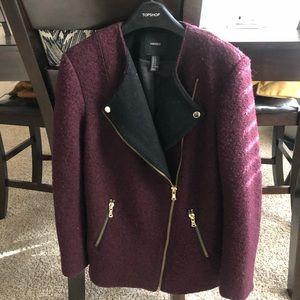 Forever 21 Maroon Coat/Blazer size S Super cute 🧥